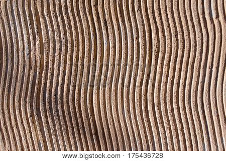 decorative plaster texture in the form of small waves