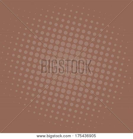Pop Art Dark Brown Dots Comic Background Vector Template Design