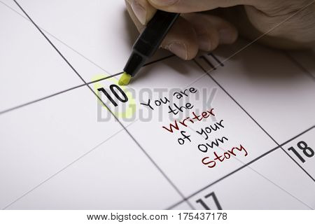 You Are the Writer of Your Own Story