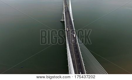 Vasco da Gama bridge in Lisbon, Portugal
