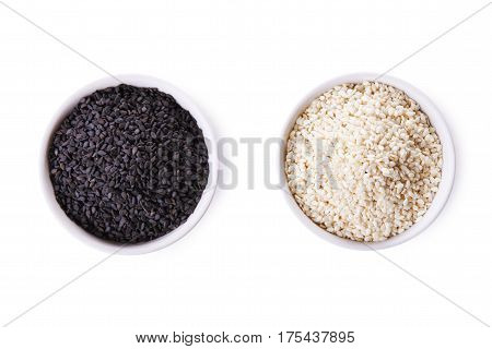 White Sesame And Black Sesame Seed