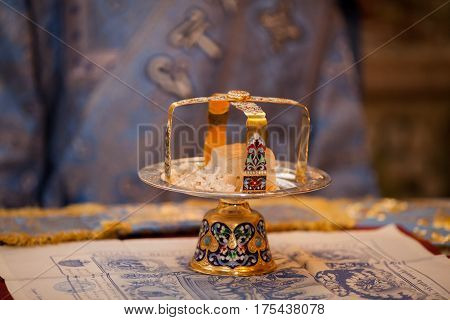 The altar of the church. Eucharist. monastery. Tomashovka. orthodoxy.