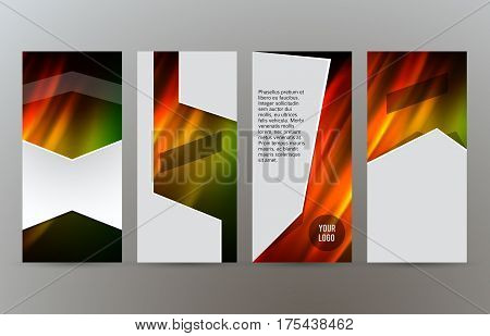 Set Templates Vertical Flyer Layout Hot Glow Effect06