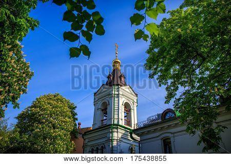 Kiev Vvedensky Monastery. orthodox. architecture. church. religious.