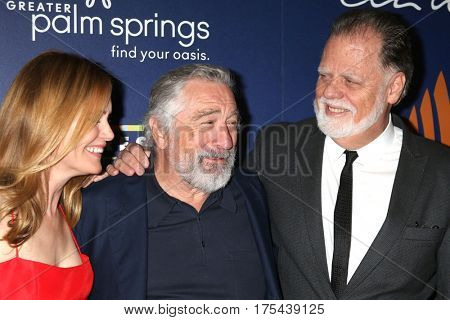 Palm Springs - JAN 15: Leslie Mann, Robert DeNiro, Taylor Hackford at the Palm Springs International Film Festival