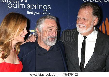 Palm Springs - JAN 15: Leslie Mann, Robert DeNiro, Taylor Hackford at the Palm Springs International Film Festival