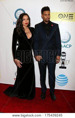 LOS ANGELES - FEB 11:  Jurnee Smollett-Bell, Josiah Bell at the 48th NAACP Image Awards Arrivals at Pasadena Conference Center on February 11, 2017 in Pasadena, CA