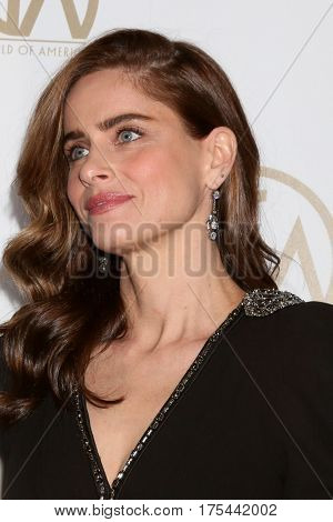 LOS ANGELES - JAN 28:  Amanda Peet at the 2017 Producers Guild Awards  at Beverly Hilton Hotel on January 28, 2017 in Beverly Hills, CA