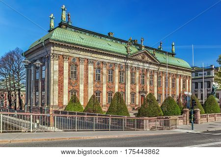 The House of Nobility in Stockholm Sweden maintains records and acts as an interest group on behalf of the Swedish nobility.
