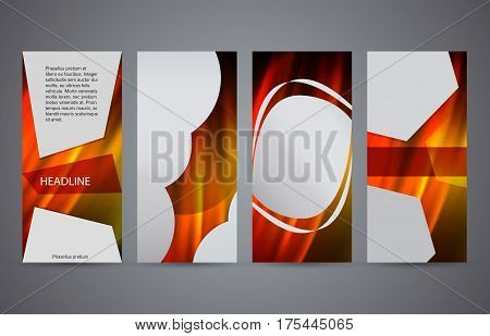 Set Templates Vertical Flyer Layout Hot Glow Effect10