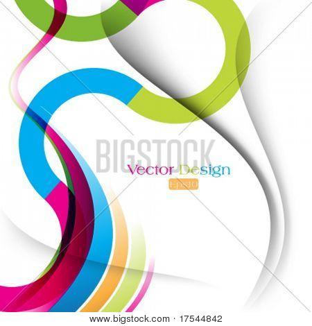 eps10 vektorové vícebarevná pozadí linie křivky a wave