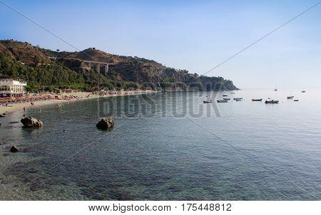 Sea, Coastline, Summer Time, Nature Scene, Caminia, Calabria, Real Time, 4k