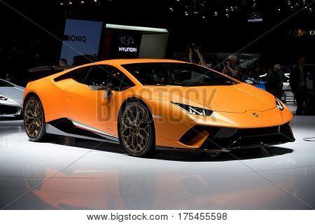 Lamborghini Huracan Performante Sports Car
