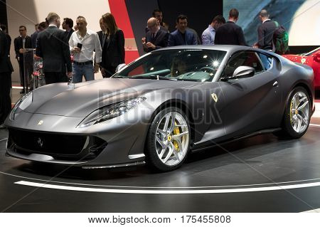 New Ferrari 812 Superfast Sports Car