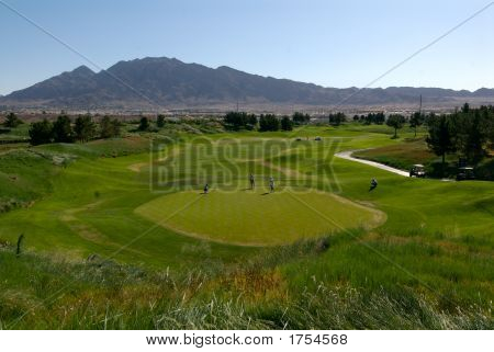 Golf Green In The Mountains