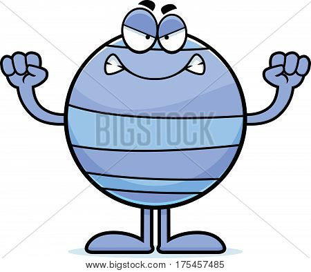 Angry Cartoon Neptune