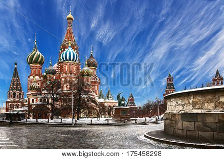 The Cathedral of the Intercession of the blessed  Mary is one of the most famous architectural monuments of Moscow