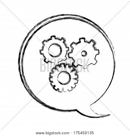 blurred contour dialogue box with silhouette wheels icons vector illustration