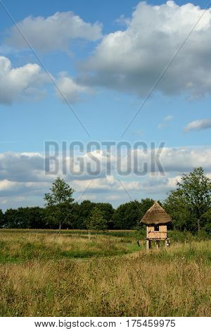 Landscape Of The Open Air Museum In Drenthe, Netherlands