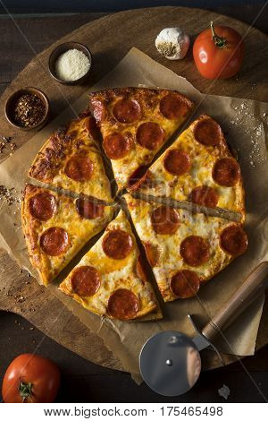 Cheap Greasy Frozen Pepperoni Pizza