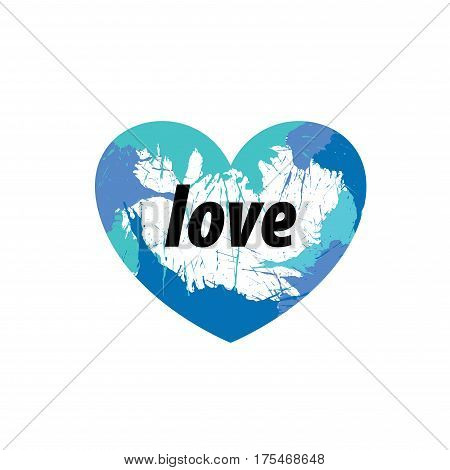 logo design template heart splash. Vector illustration