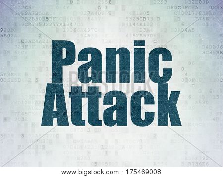 Medicine concept: Painted blue word Panic Attack on Digital Data Paper background