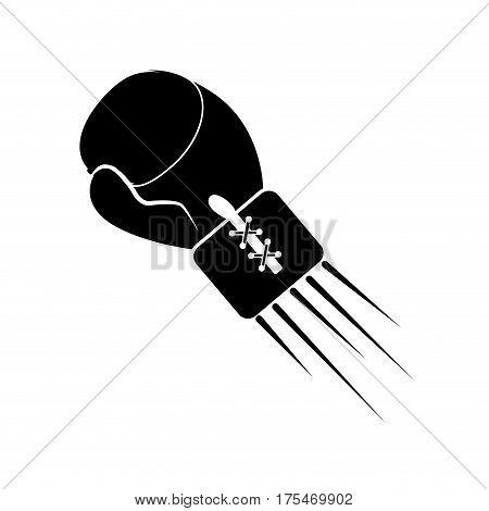 contour boxing gloves icon, vector illustraction design image
