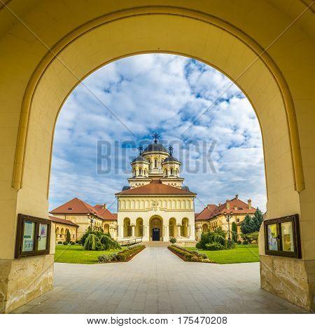 The Coronation Orthodox Cathedral in Fortress Of Alba Iulia Transylvania Romania.