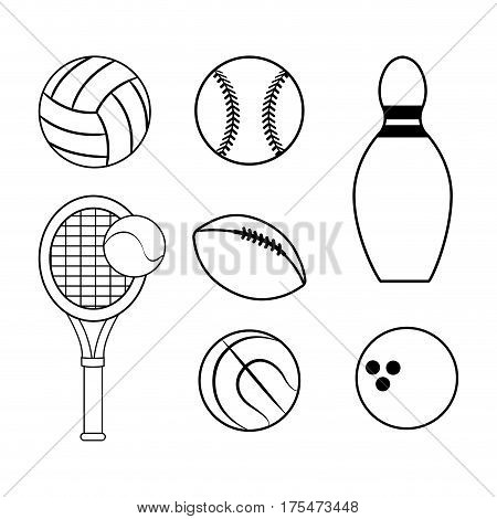 figure diferents sport games icon, vector illustraction design