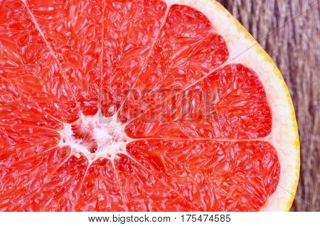 close up from Colorful and red grapefruit