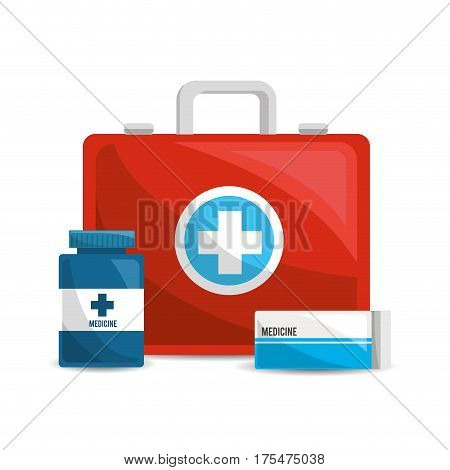 color healthcare, pharmaceutical drugs and medications, vector illustraction design