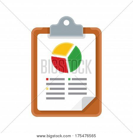 Chart Analytics, Graph Report. Vector Illustration isolated on white background.
