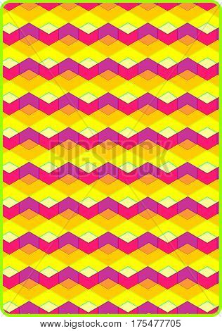 hexagons and diamond shapes in a bright colorful pattern.
