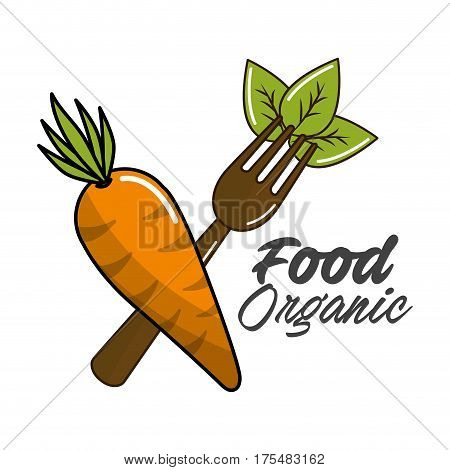 biological food icon stock, vector illustration design image