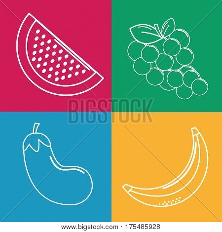 organic fruits backgroud icon, vector illustration design image