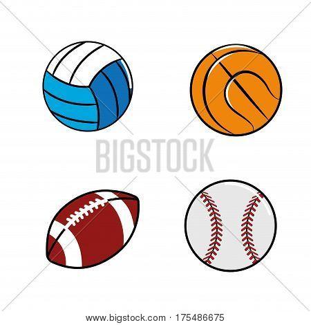 color diferents plays balls icon, vector illustraction design