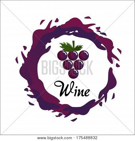 bubble of wine icon image, vector illustration design stock
