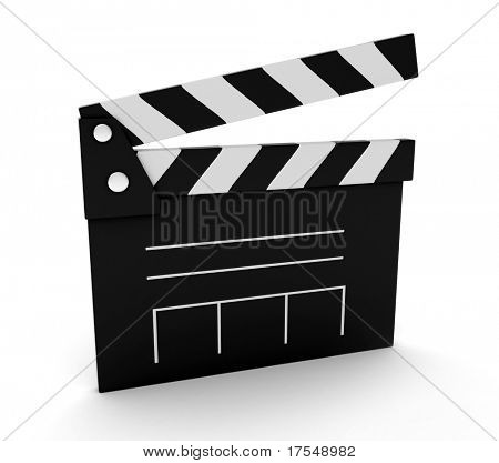 3D Illustration of a Clapperboard