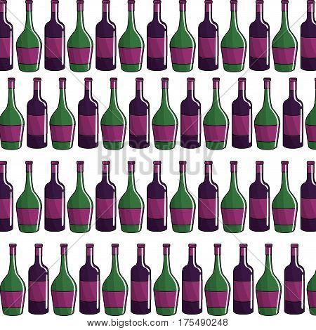 bottle of wine background icon stock, vector illustration design