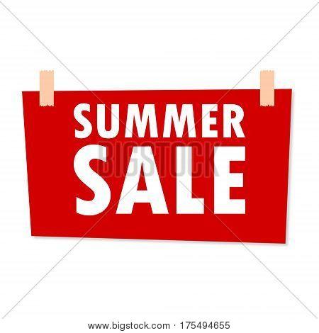 Summer Sale Sign - illustration on white background