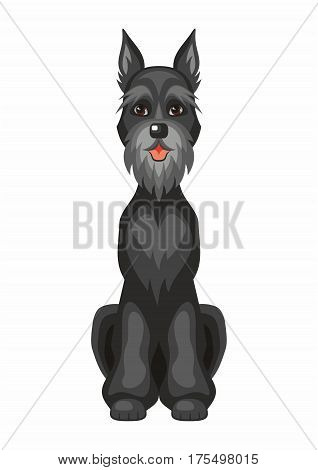 Black Riesenschnauzer Dog.eps