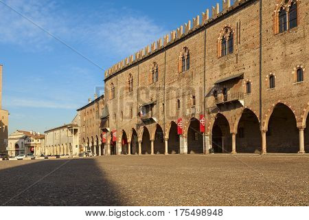 Ducal Palace In The City Of Mantua