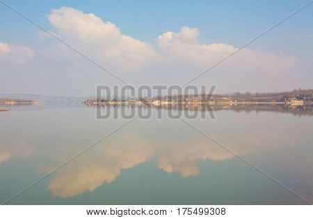 Lake And Meadows Abstract