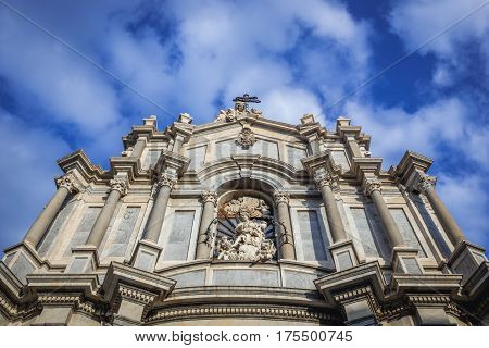 Catania Cathedral in Catania on the island of Sicily Italy