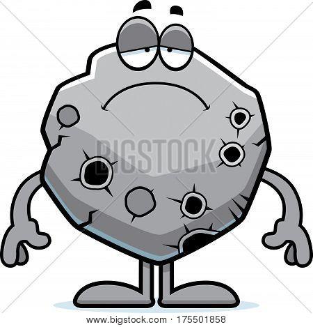 Sad Cartoon Asteroid