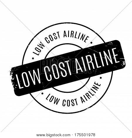 Low Cost Airline rubber stamp. Grunge design with dust scratches. Effects can be easily removed for a clean, crisp look. Color is easily changed.