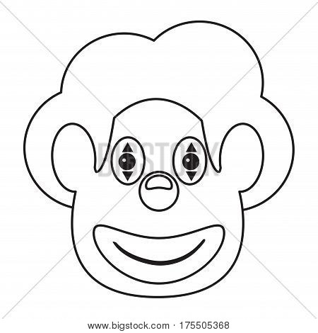 face clown april fool day thin line vector illustration eps 10