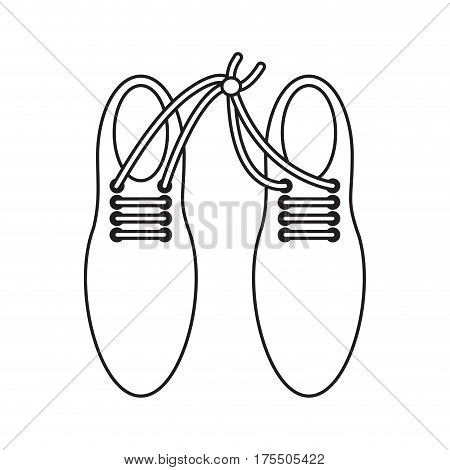 april fool shoelaces tied  image thin line vector illustration eps 10