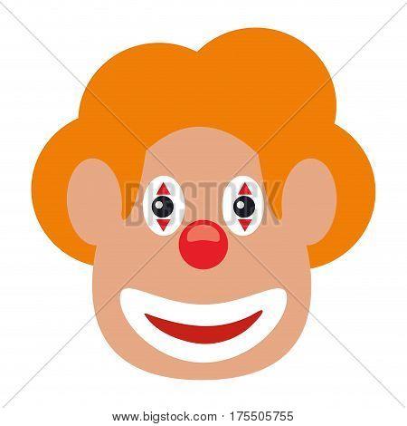 face clown april fool day vector illustration eps 10