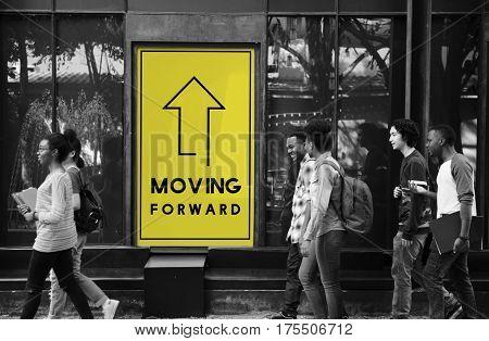 Moving Forward Aspirations Goals Target Ahead